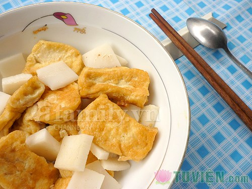 Đậu phụ kho cùi dừa, Bếp Eva, Đậu phụ kho cùi dừa, dau phu, cui dua, mon ngon, mon ngon de lam