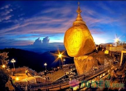 Chùa Đá Vàng - một kỳ quan của Myanmar
