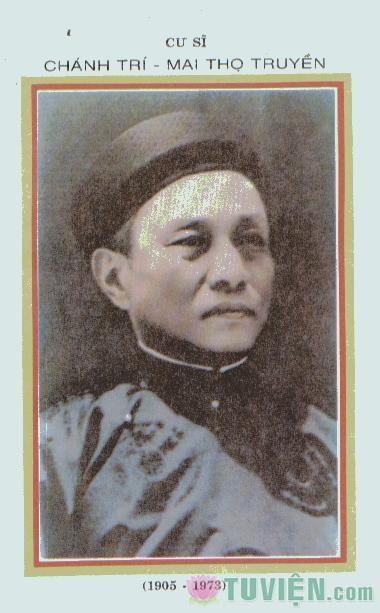 Cư sĩ Chánh Trí - Mai Thọ Truyền (1905-1973)