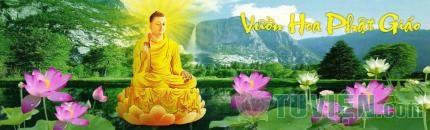 Hạnh Phúc giữa vườn hoa Phật giáo