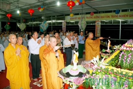 Hà Tĩnh: Chùa Mãn Nguyệt long trọng tổ chức đại lễ Phật Đản PL 2559 - DL 2015