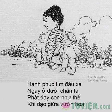 Đức Phật với tuổi thơ nhìn từ tranh vẽ