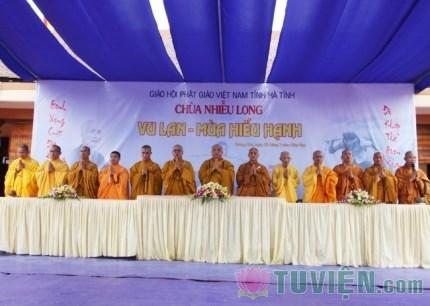 Hà Tĩnh: Đại lễ Vu lan Báo hiếu chùa Nhiễu Long